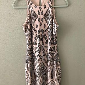 Light Pink Patterned Dress Size 7/8